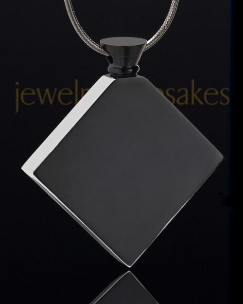 Stainless Black Beloved Diamond Cremation Keepsake