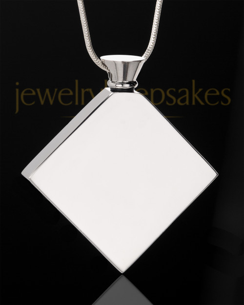 Stainless Steel Beloved Diamond Cremation Keepsake