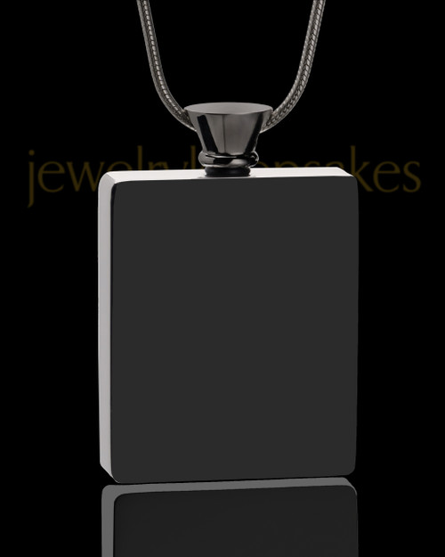 Black Whispering Thoughts Jewelry Pendant