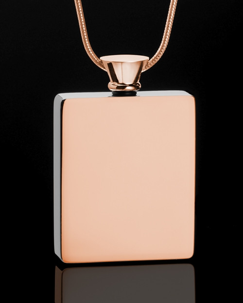 Rose Gold Whispering Thoughts Memorial Pendant