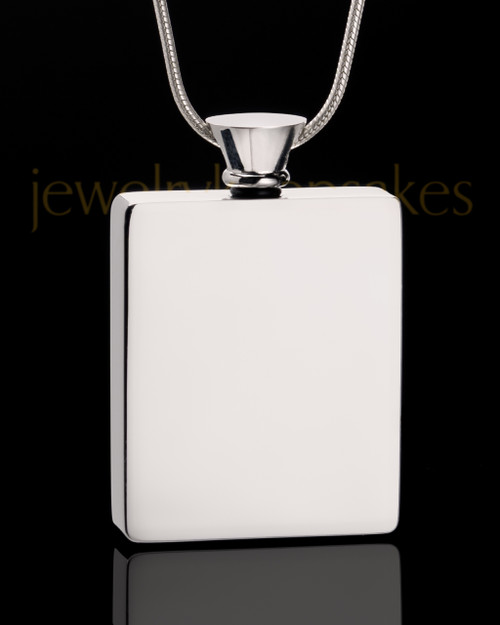 Stainless Steel Whispering Thoughts Cremation Keepsake