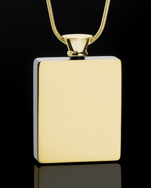 Whispering Thoughts Gold Plated Jewelry Urn