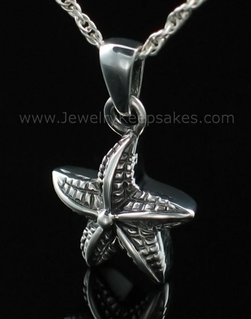 Cremation Necklace Jewelry Sterling Silver Starfish