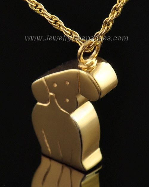 Gold Plated Cremation Urn Pet Necklace Best Friend Dog