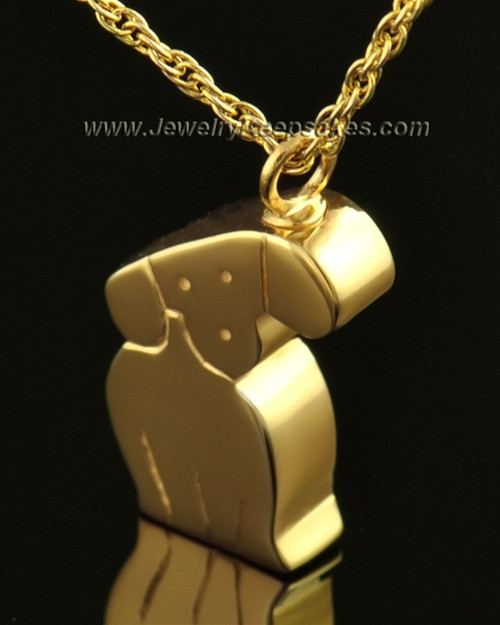 14k Gold Cremation Urn Pet Necklace Best Friend Dog