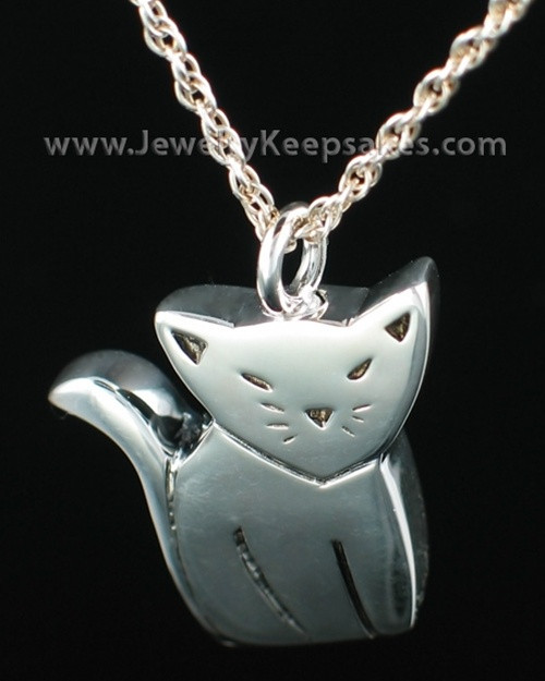 Sterling Silver Cremation Pet Pendant Best Friend Cat