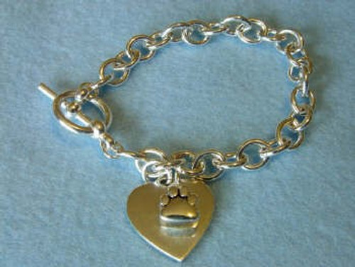 Sterling Silver Cremains Pet Jewelry Charm Bracelet - Dog