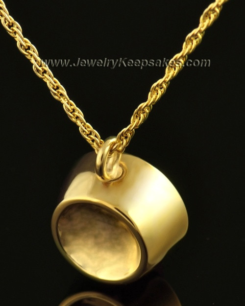 14k Gold Pet Memorial Locket Dish