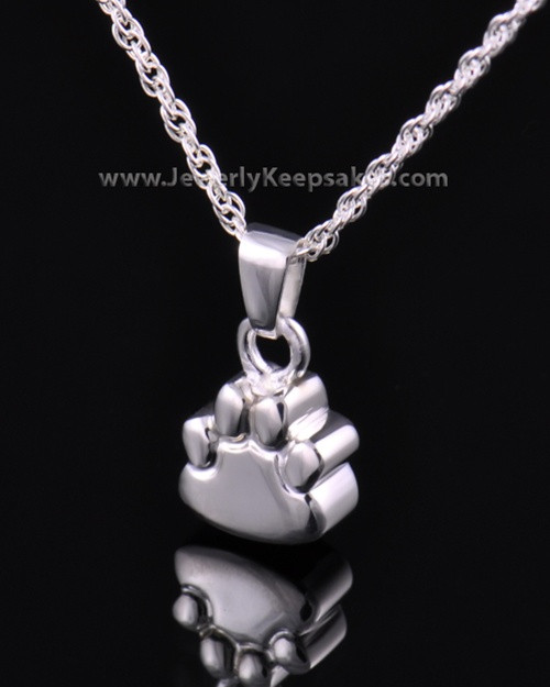 Pet Memorial Jewelry Sterling Silver Paw