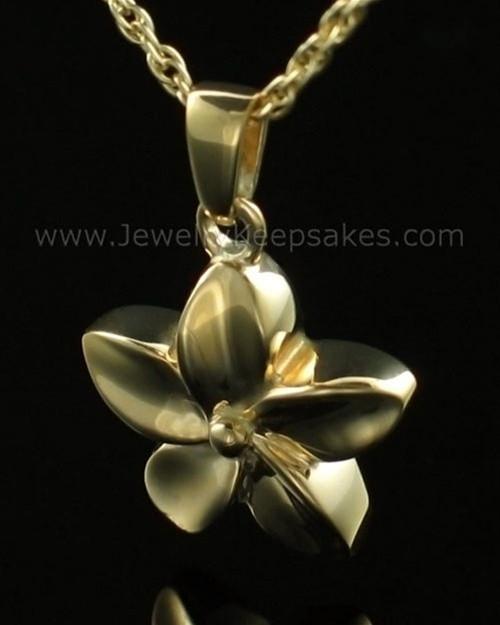 Keepsake Pendant Gold Plated Flower