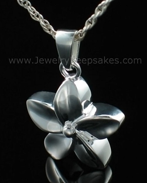Keepsake Pendant Sterling Silver Flower
