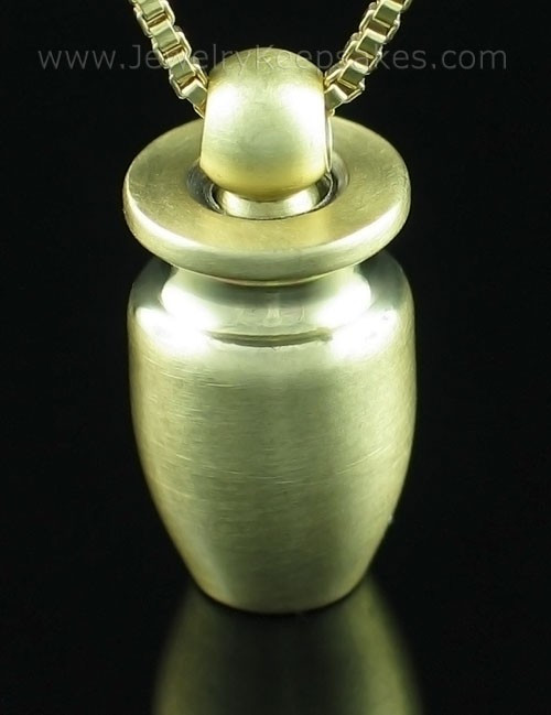 Cremation Necklace Brass Small Urn