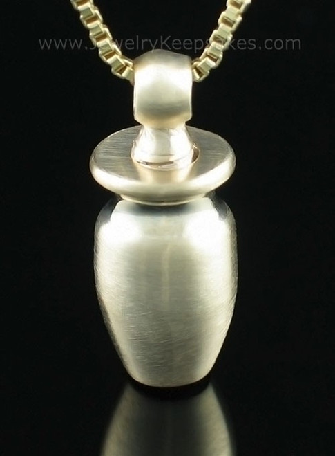 Cremation Necklace 14k Gold Small Urn