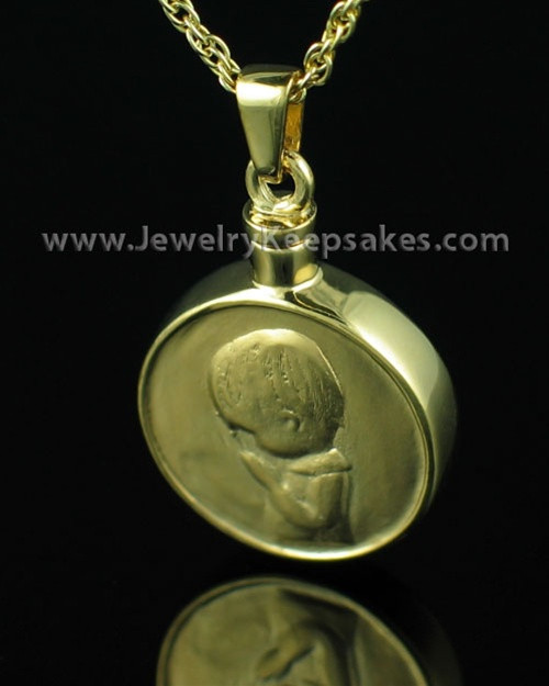 Cremains Pendant Gold Plated Boy