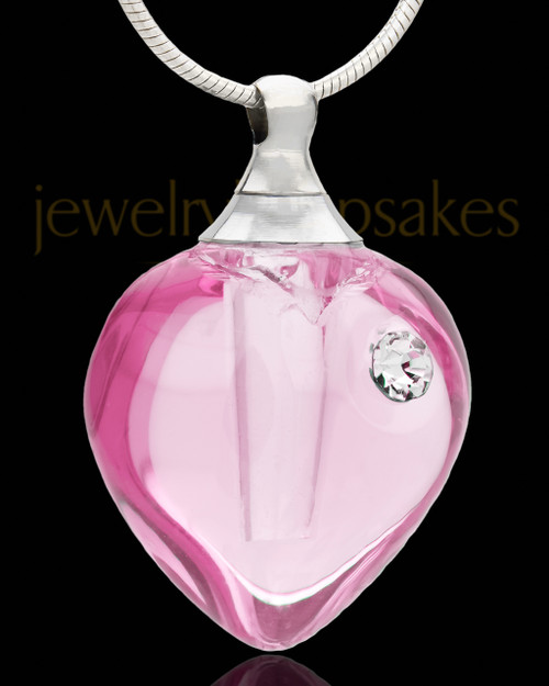 Urn Pendant Breathless Heart Glass Locket