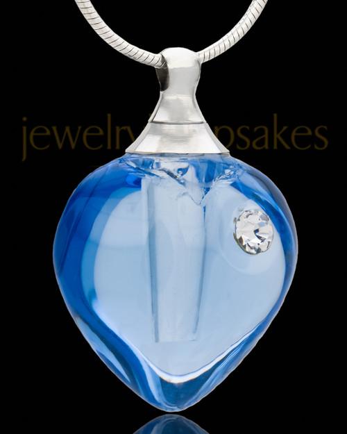 Memorial Jewelry Glee Heart Glass Locket