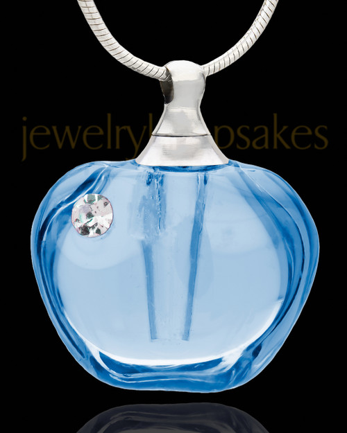 Ash Keepsake Blue Allure Glass Locket