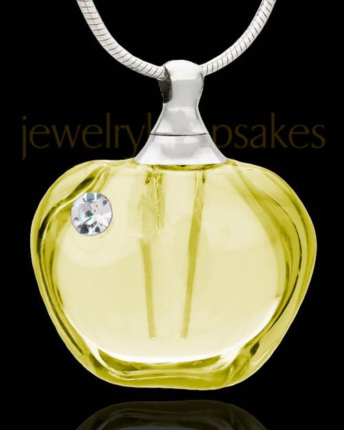 Ash Keepsake Yellow Allure Glass Locket