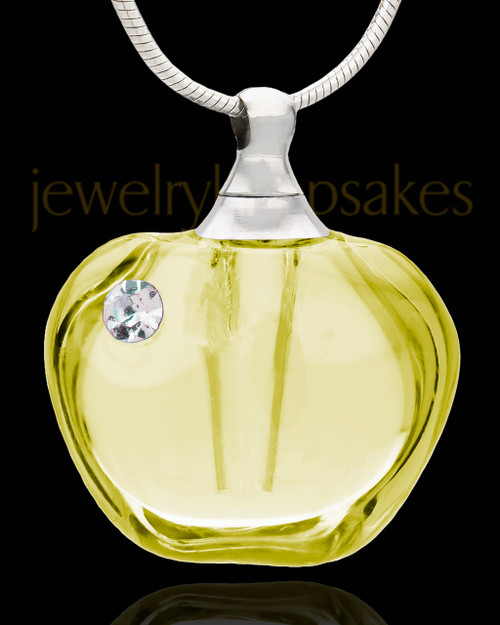 Ash Keepsake Yellow Allure Glass Locket