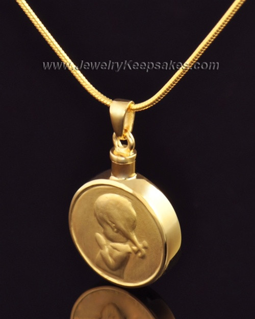Necklace Urn Gold Plated Girl