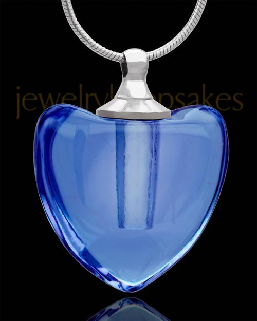 Urn Pendant Glory Heart Glass Locket
