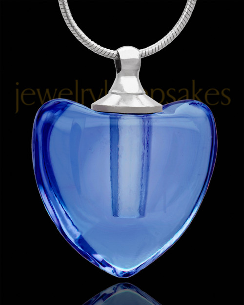 Urn Pendant Glory Heart Glass Locket