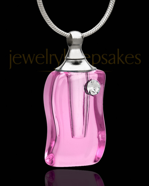 Cremation Necklace Happiness Glass Locket