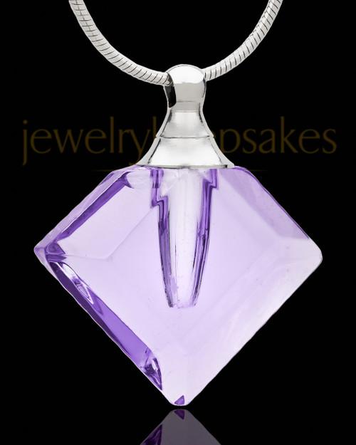 Cremains Pendant Lavender Fascination Glass Locket