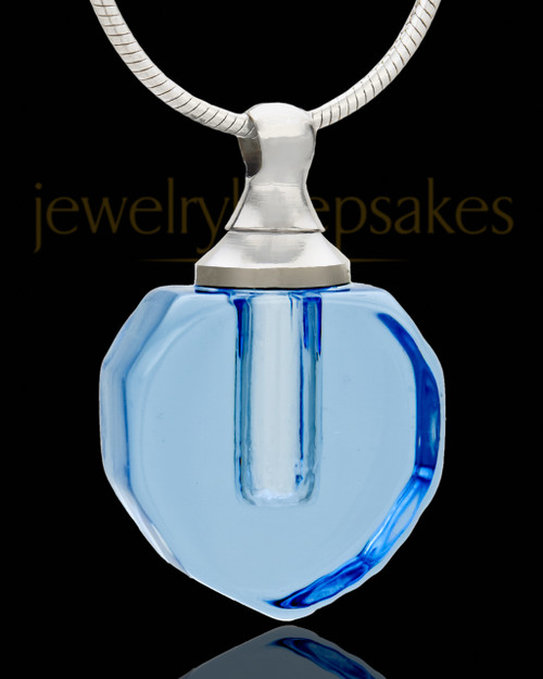 Memorial Necklace Ocean Teardrop Glass Locket
