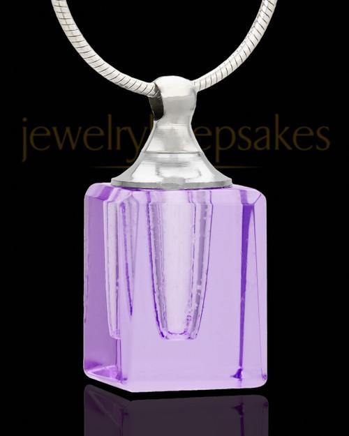 Memorial Jewelry Lavender Darling Glass Locket