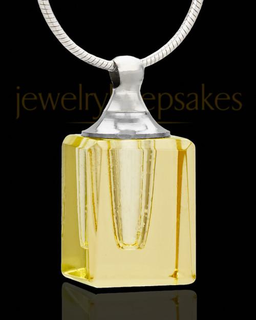 Memorial Jewelry Yellow Darling Glass Locket