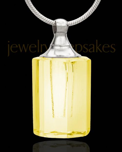 Remembrance Jewelry Yellow Sweetheart Glass Locket