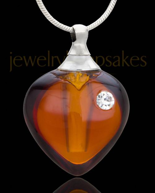 Keepsake Pendant Sienna Heart Glass Locket