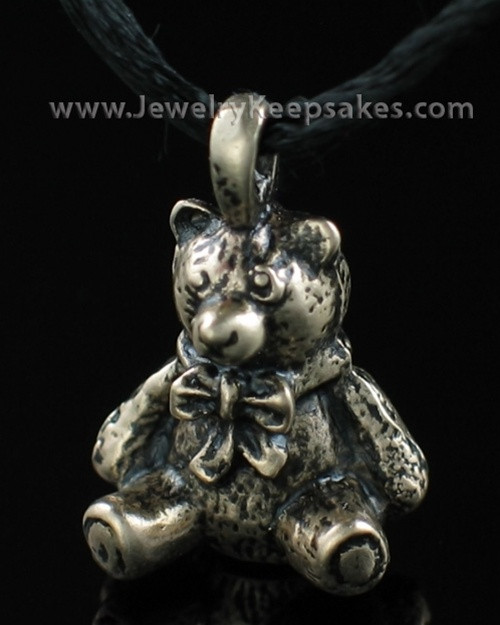 Cremains Jewelry Bronze Plated Teddy Bear