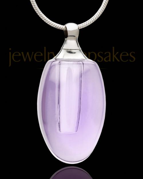 Cremation Pendant Lavender Forever Glass Locket
