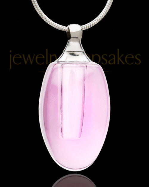 Cremation Necklace Rose Forever Glass Locket