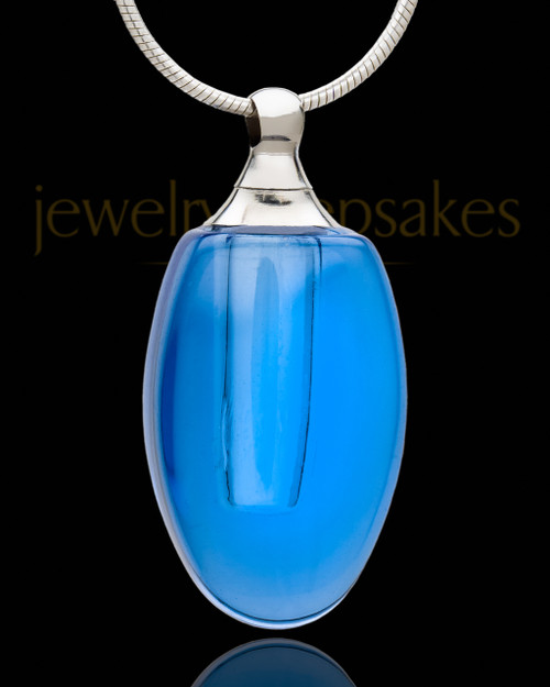 Urn Pendant Indigo Forever Glass Locket