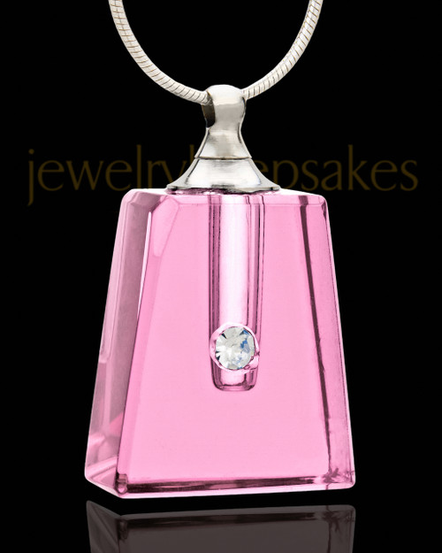 Cremation Jewelry Rose Reverence Glass Locket