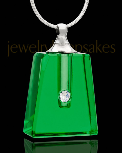 Urn Jewelry Green Reverence Glass Locket