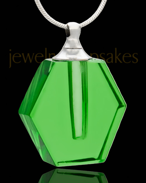 Jewelry Urn Green Honesty Glass Locket