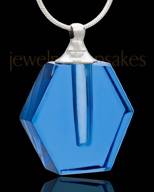 Ash Jewelry Indigo Honesty Glass Locket