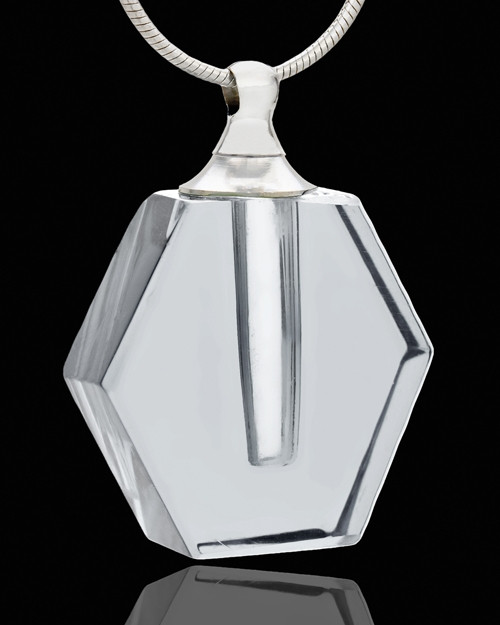 Memorial Jewelry Clear Honesty Glass Locket