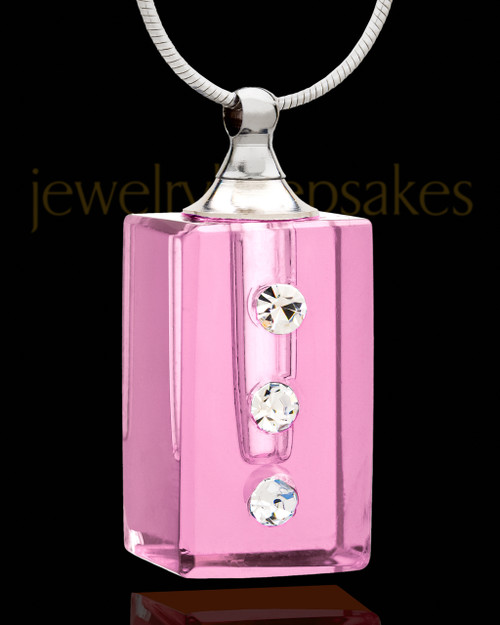 Cremation Necklace Rose Dependable Glass Locket