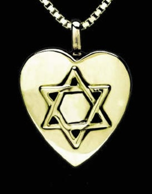 Memorial Necklace 14K Gold Star of David