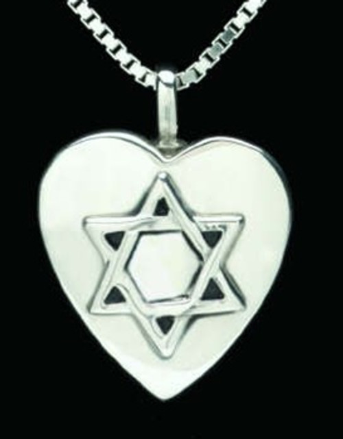 Memorial Necklace Sterling Silver Star of David