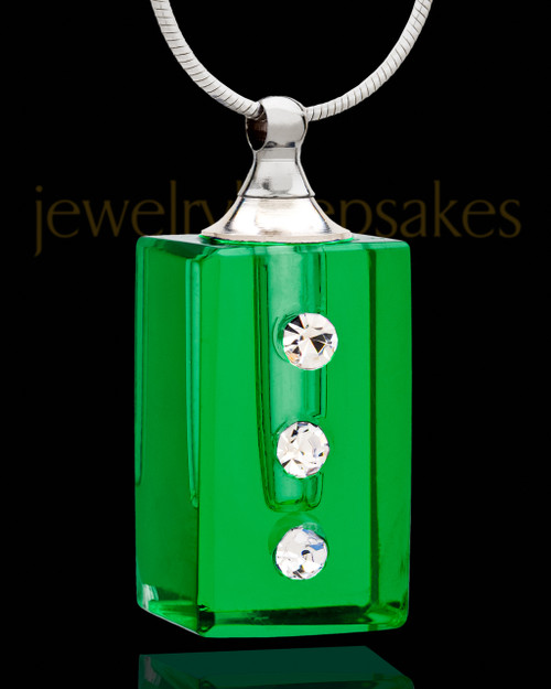 Ashes Pendant Green Dependable Glass Locket
