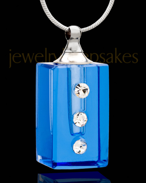 Cremains Locket Indigo Dependable Glass Locket