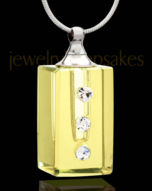 Cremation Charm Golden Dependable Glass Locket