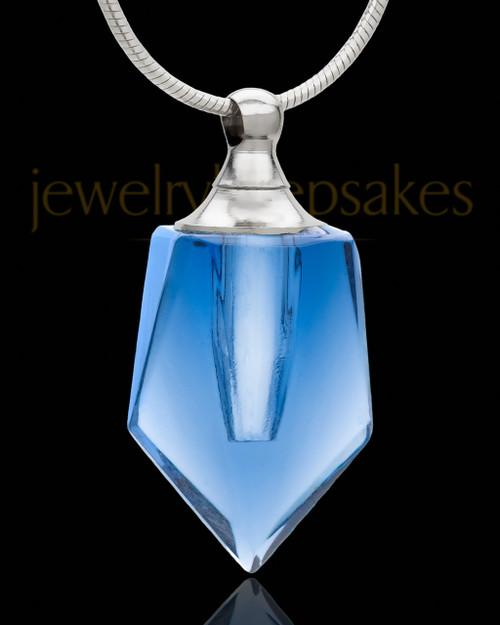 Cremains Pendant Indigo Devoted Glass Locket