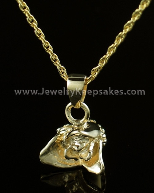 Remembrance Jewelry Gold Plated Rose Bud
